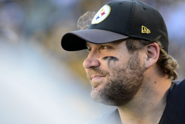 Pittsburgh Steelers quarterback Ben Roethlisberger (7) smiles on the sidelines of the Steelers 30-9 win against the Cleveland Browns at Heinz Field in Pittsburgh on November 15, 2015. Photo by Archie Carpenter/UPI