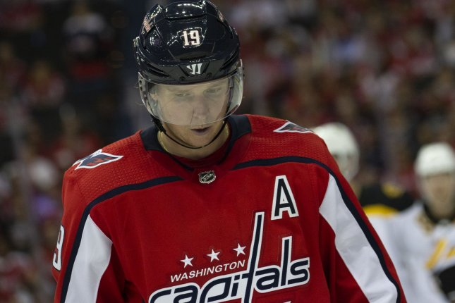 Nicklas Backstrom and the Washington Capitals take on the Anaheim Ducks on Sunday. Photo by Alex Edelman/UPI