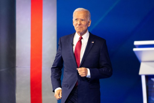 Former Vice President Joe Biden introduced an anti-corruption government plan Monday that targets President Donald Trump. File Photo by Kevin Dietsch/UPI