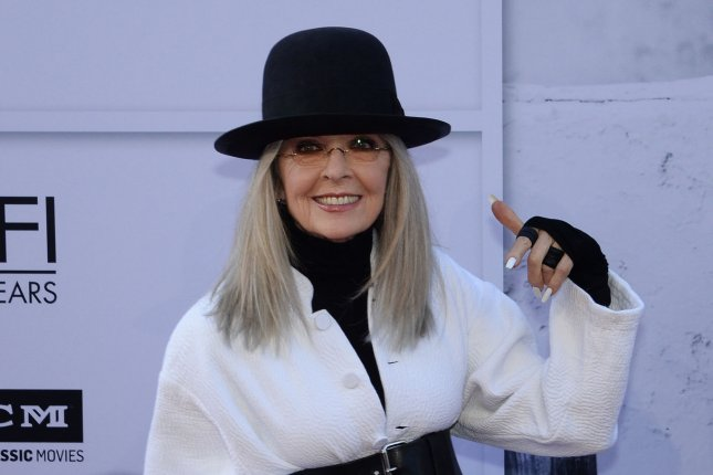 Honoree Diane Keaton arrives for American Film Institute's 45th annual Life Achievement Award tribute gala at the Dolby Theatre in the Hollywood section of Los Angeles on June 8, 2017. Keaton stars opposite Jeremy Irons in Love, Weddings and other Disasters. File Photo by Jim Ruymen/UPI