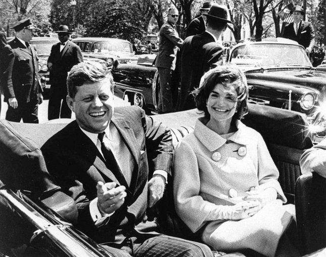 President John F. Kennedy and First Lady Jacqueline Kennedy rode in a motorcade in Washington May 3, 1961. Friday marks the 50th anniversary of the day President Kennedy was assassinated in Dallas. (UPI Photo/Abbie Rowe/John F. Kennedy Presidential Library & Museum)