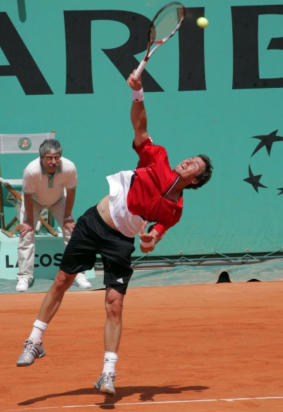 Marat Safin of Russia, shown during the French Open May 28, 2008. (UPI Photo/Eco Clement)