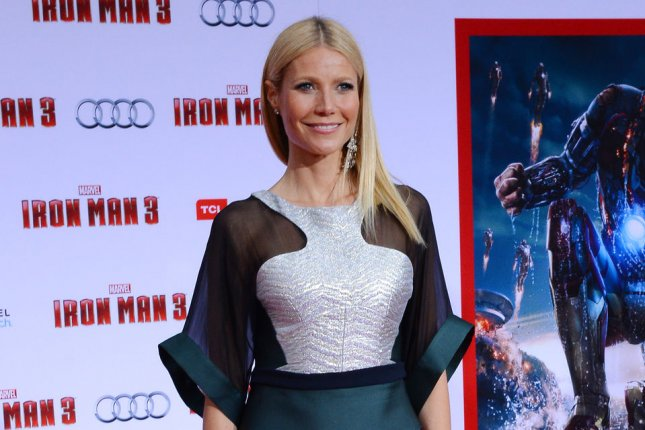 Gwyneth Paltrow, a cast member in the motion picture sci-fi thriller Iron Man 3, attends the premiere of the film at the El Capitan Theatre in the Hollywood section of Los Angeles on April 24, 2013. UPI/Jim Ruymen