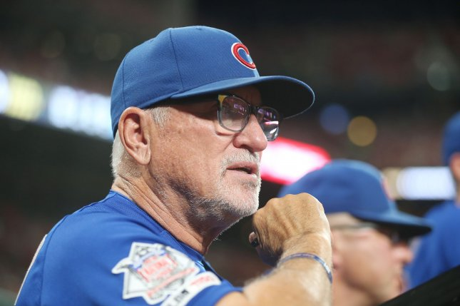 Former Chicago Cubs manager Joe Maddon parted ways with the club after the conclusion of the regular season. File Photo by Bill Greenblatt/UPI