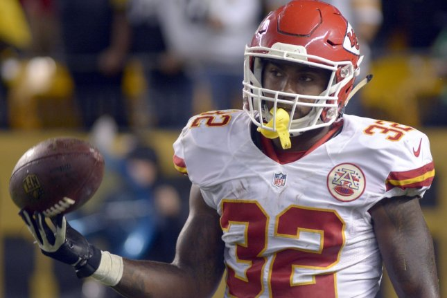 Kansas City Chiefs running back Spencer Ware had 470 yards from scrimmage and two touchdowns in 13 games with the team in 2018. File Photo by Archie Carpenter/UPI