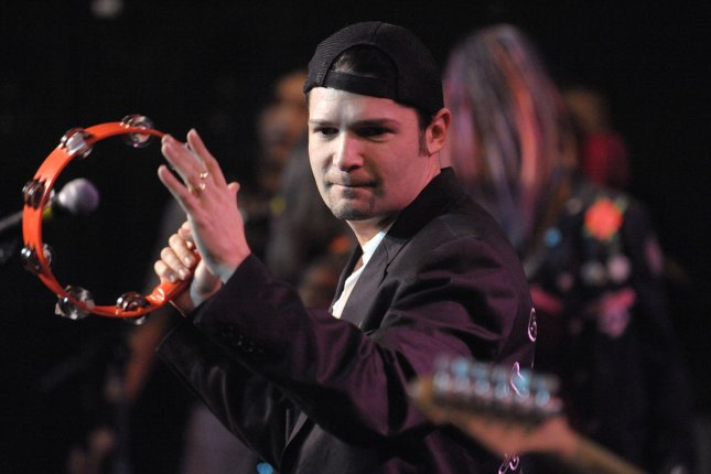 Actor Corey Feldman sits in with a band at Rock 'n' Roll Fantasy Camp in Los Angeles on February 17, 2008. Feldman recently reunited with his co-stars from the 1980s classic The Goonies. File Photo by Phil McCarten/UPI