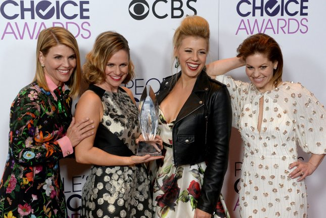 Fuller House stars (L-R) Lori Loughlin, Andrea Barber, Jodie Sweetin and Candace Cameron Bure star in the new trailer for Season 3 of the series. File Photo by Jim Ruymen/UPI