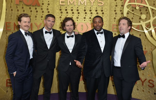 Left to right, Saturday Night Live stars Alex Moffat, Mikey Day, Kyle Mooney, Kenan Thompson and Beck Bennett arrive for the 71st annual Primetime Emmy Awards in Los Angeles on September 22. The Season 45 finale of SNL aired this weekend. File Photo by Christine Chew/UPI