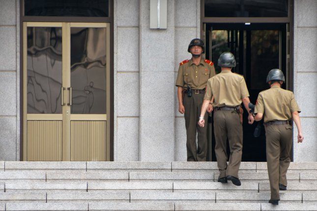 North Korean soldiers have moved forward to vacated guard posts in the Korean demilitarized zone, according to a South Korean press report on Thursday. File Photo by Keizo Mori/UPI