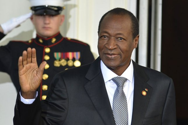 Burkina Faso President Blaise Compaore, pictured at the White House in August, announced his resignation on Oct. 31, 2014. UPI File/Mike Theiler