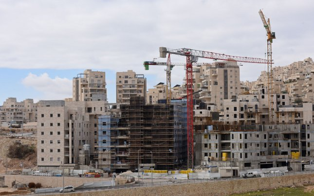 The Trump administration on Thursday issued a statement that continued Israeli expansion of settlements in the West Bank, such as Har Homa, pictured, or construction of new ones may not be helpful to efforts for peace between Israelis and Palestinians. White House Press Secretary Sean Spicer said the statement was not meant as policy on the settlements, though it appeared to be a shift from U.S. President Donald Trump's views of settlements expressed during the 2016 presidential campaign. Photo by Debbie Hill/UPI