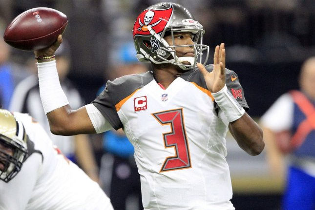 Tampa Bay Buccaneers quarterback Jameis Winston (3) throws against the New Orleans Saints Sunday at the Mercedes-Benz Superdome in New Orleans, La. Photo by AJ Sisco/UPI