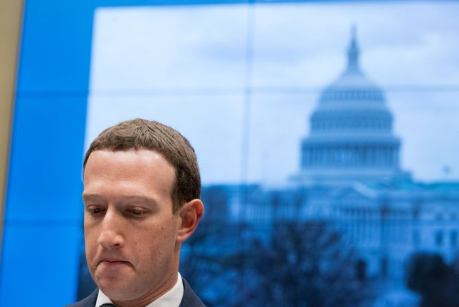 Facebook CEO Mark Zuckerberg testifies before a House Energy and Commerce Committee hearing on transparency and use of consumer data on Capitol Hil in Washington, DC in April. On Tuesday, Facebook says it has provided access to its users' data to Chinese smartphone maker Huawei, a company U.S. intelligence officials have said is a security threat. Photo by Erin Schaff/UPI