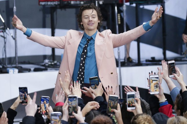 Harry Styles shared plans for his Harryween Halloween concerts at Madison Square Garden in New York. Photo by John Angelillo/UPI