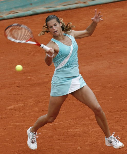 Amelie Mauresmo of France, shown May 29, 2008, at the French Open. (UPI Photo/ David Silpa)
