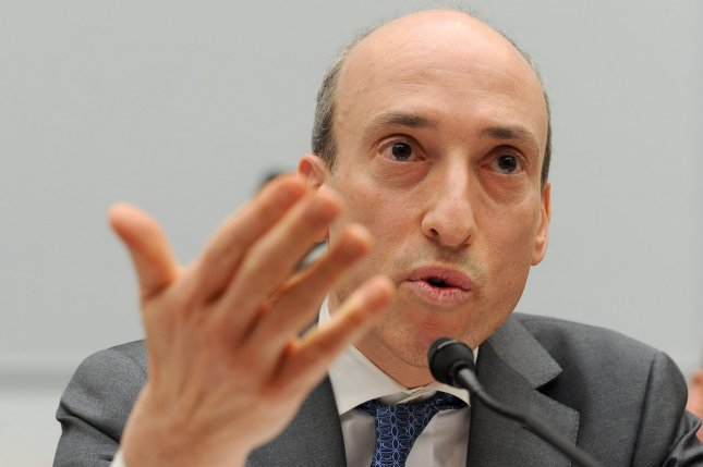 CFTC Chairman Gary Gensler's term is up in January. President Obama announces a nominee for a new chair Tuesday to regulate banks and derivatives markets. (File/UPI/Roger L. Wollenberg)