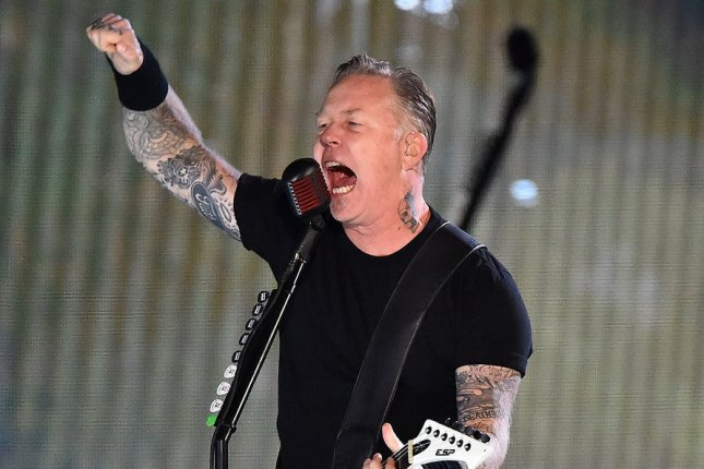 Metallica frontman James Hetfield appears with Zac Efron in a new photo from Extremely Wicked, Shockingly Evil and Vile File Photo by Kevin Dietsch/UPI