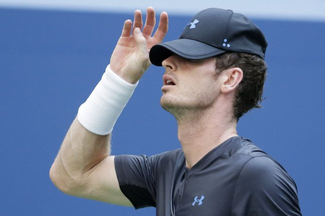 Andy Murray of the United Kingdom puts on his hat after a changeover in his 2nd round match against Fernando Verdasco of Spain in Arthur Ashe Stadium at the 2018 US Open Tennis Championships on August 29 at the USTA Billie Jean King National Tennis Center in New York City. Photo by John Angelillo/UPI