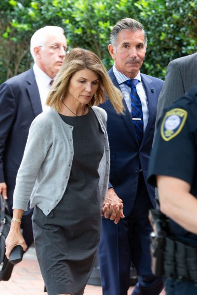 Actress Lori Loughlin (L), and husband and fashion designer Mossimo Giannulli face up to 25 years in prison. File Photo by Matthew Healey/UPI
