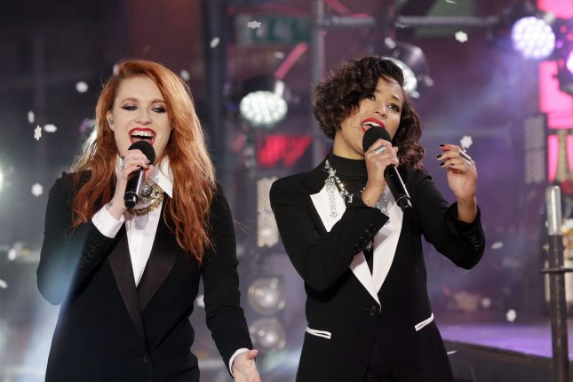 Icona Pop is scheduled to open for One Direction on their North American tour starting July 9. Photo by John Angelillo/UPI