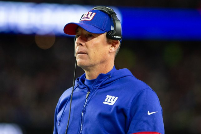 Pat Shurmur posted a 9-23 record in two seasons coaching the New York Giants. Photo by Matthew Healey/UPI