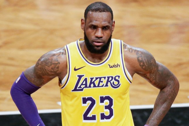 LeBron James and the Los Angeles Lakers lost some defensive strength due to player opt-outs and injuries but could be improved on offense as the NBA season resumes Thursday in Orlando, Fla. File Photo by John Angelillo/UPI