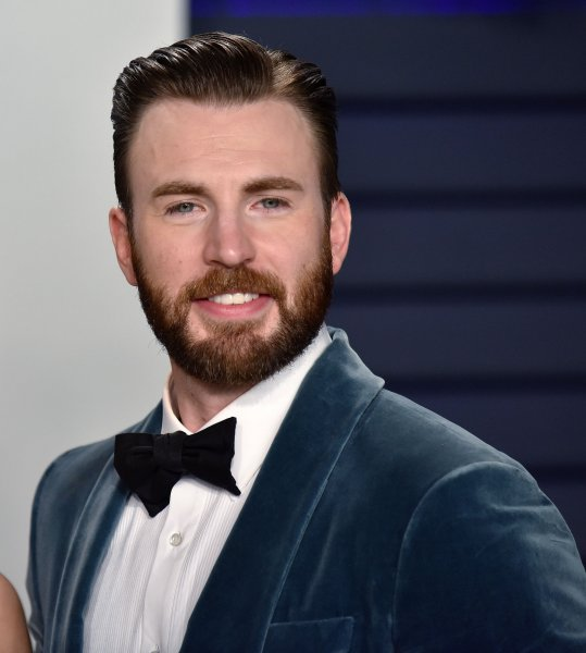 The Gray Man star Chris Evans arrives for the Vanity Fair Oscar Party on February 2019. The film, which also stars Ryan Gosling, has received a $20 million California tax credit. File Photo by Christine Chew/UPI