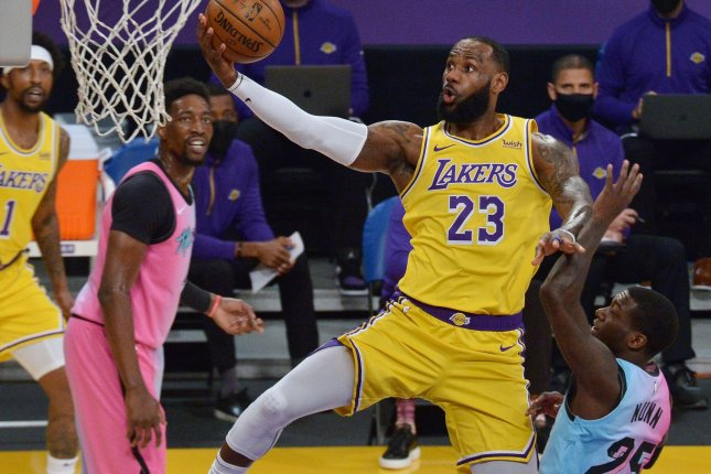 Basketball legend LeBron James can now be seen in the trailer for Space Jam: A New Legacy. File Photo by Jim Ruymen/UPI
