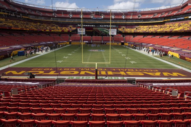 The Washington Football Team has banned fans from wearing Native American headdresses or face paint at FedEx Field starting this season. File Photo by Kevin Dietsch/UPI