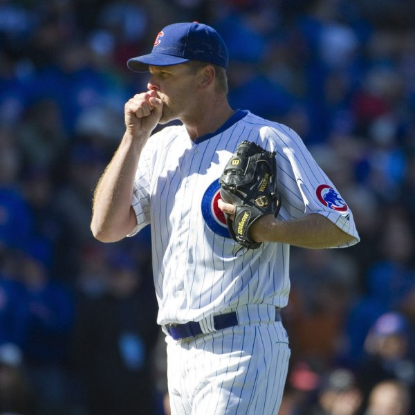 Chicago Cubs pitcher Kerry Wood, shown in a game April 5 against Washington, was placed on the 15-day disabled list Friday. UPI/Brian Kersey