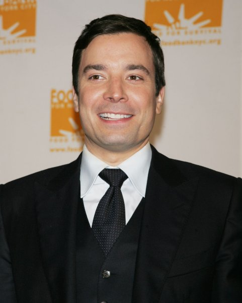Jimmy Fallon arrives for the Food Bank for New York City's Sixth Annual Can-Do Awards Dinner honoring Jon Bon Jovi at Pier Sixty at Chelsea Piers in New York on April 21, 2009. (UPI Photo/Laura Cavanaugh)