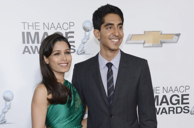 Actors Freida Pinto and Dev Patel have reportedly ended their relationship after almost six years together. The couple appears pictured in Los Angeles on February 01, 2013. UPI/Phil McCarten