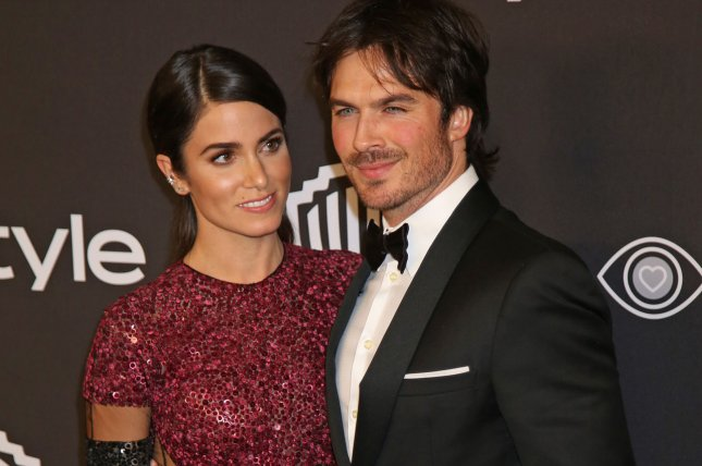 Nikki Reed (L) and Ian Somerhalder attend the 18th annual InStyle and Warner Bros. Golden Globe after-party in Beverly Hills on January 8. File Photo by David Silpa/UPI