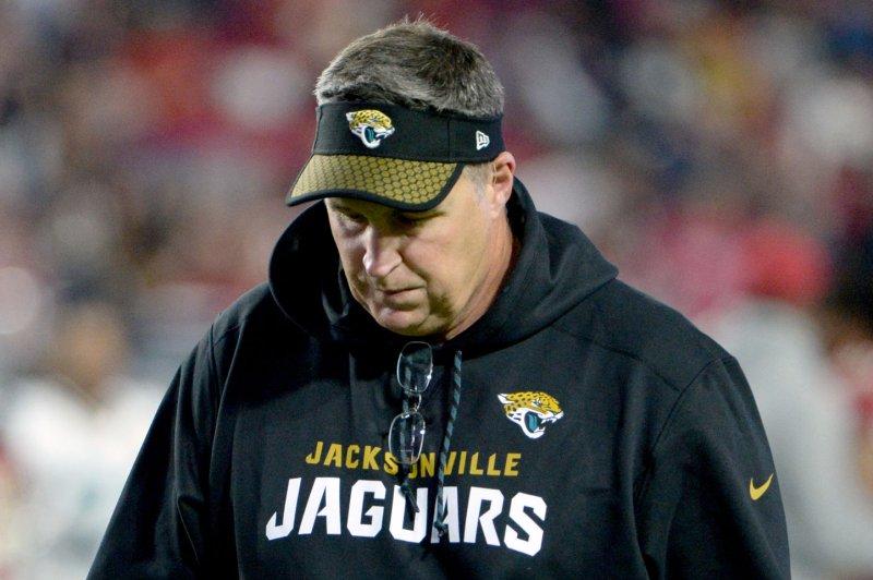Jacksonville Jaguars' head coach Doug Marrone. Photo by Art Foxall/UPI