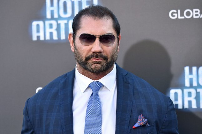 Dave Bautista continues to defend fired Guardians of the Galaxy director James Gunn on social media. File Photo by Chris Chew/UPI