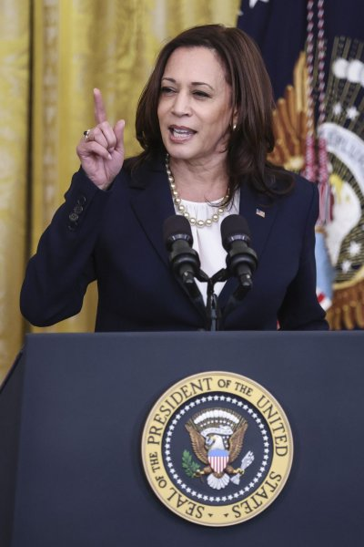 Vice President Kamala Harris has traveled to Mexico and Guatemala but Friday will mark her first visit to the border since the 2020 election. Pool photo by Oliver Contreras/UPI
