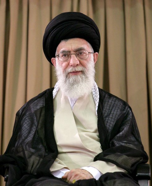 Iran's Supreme Leader Ayatollah Ali Khamenei, shown at a meeting in Tehran, Iran July 20, 2009. (UPI Photo/HO)