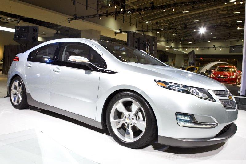 The Chevy Volt is showcased at the Washington Auto Show in Washington on January 26, 2010. UPI/Madeline Marshall