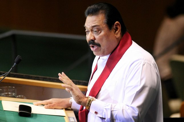 Sri Lanka's former President Mahinda Rajapaksa announced he will seek for a parliamentary seat in the elections in August. File Photo by Monika Graff/UPI