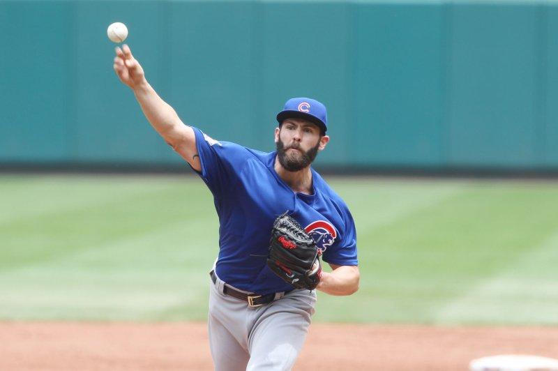 Chicago Cubs starting pitcher Jake Arrieta. Photo by Bill Greenblatt/UPI