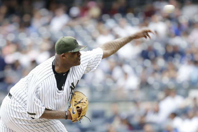 New York Yankees starting pitcher CC Sabathia helped stymie the rival Boston Red Sox on Saturday. Photo by John Angelillo/UPI