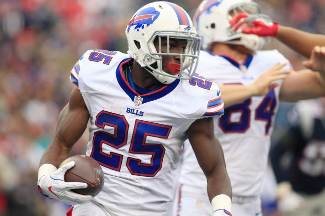 LeSean McCoy and the Buffalo Bills take on the Miami Dolphins on Sunday. Photo by Matthew Healey/ UPI