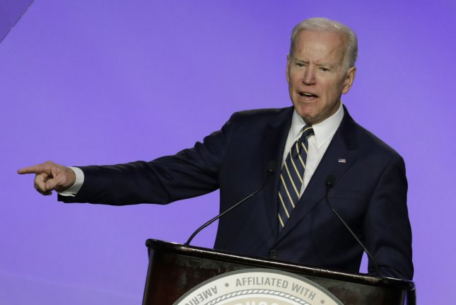 Former Vice President Joe Biden's one-day fundraising haul was fueled in part by a fundraiser he held Thursday in Philadelphia. Photo by Yuri Gripas/UPI