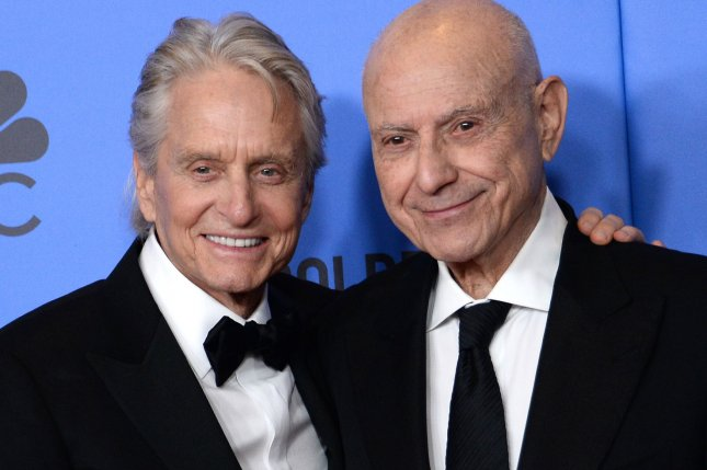 Actors Michael Douglas (L) and Alan Arkin will return for Season 2 of The Kominsky Method on Oct. 25. File Photo by Jim Ruymen/UPI