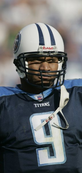 Former NFL quarterback Steve McNair, seen in a November 20, 2005 file photo in Nashville, Tennessee, was found shot and killed in his girlfriend's condominium in Nashville on July 4, 2009. McNair was 36 years old. (UPI Photo/Billy Suratt/File)