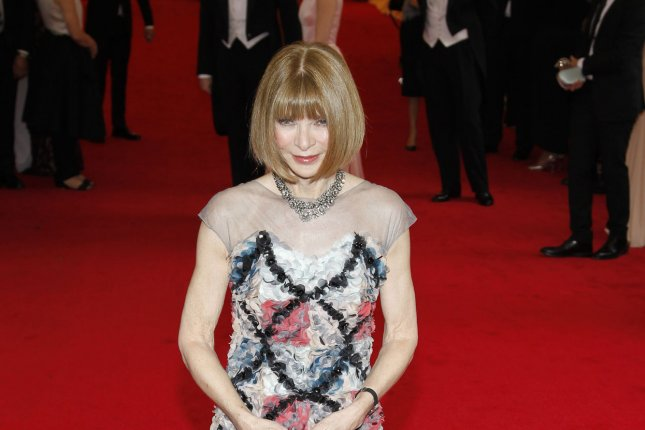 Anna Wintour arrives on the red carpet at the Costume Institute Benefit celebrating the opening of Charles James: Beyond Fashion and the new Anna Wintour Costume Center at the Metropolitan Museum of Art in New York City on May 5, 2014. UPI/John Angelillo