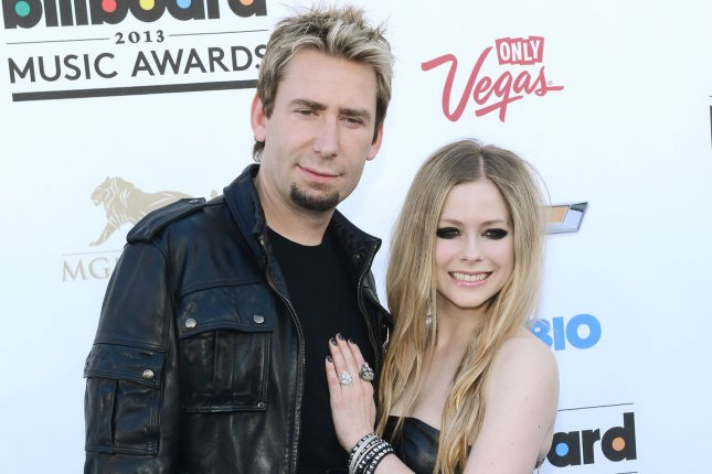 Singers Chad Kroeger of Nickelback and Avril Lavigne arrive at the 2013 Billboard Music Awards held at the MGM Hotel in Las Vegas, Nev., on May 19, 2013. File Photo by Jim Ruymen/UPI