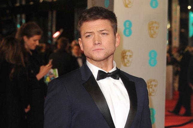 Kingsman star Taron Egerton attending the EE British Academy Film Awards on February 14, 2016. The actor shared a new posted on social media for sequel Kingsman: The Golden Circle which hints at the return of major character. File Photo by Paul Treadway/UPI