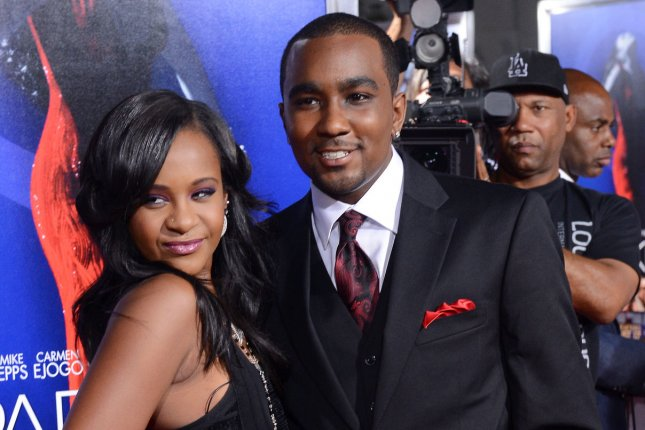 Bobbi Kristina Brown and boyfriend Nick Gordon attend the premiere of the motion picture Sparkle at Hollywood's Grauman's Chinese Theatre in 2012. Friday, an Atlanta judge ruled that Gordon is civilly liable for Brown's 2015 death. File Photo by Jim Ruymen/UPI