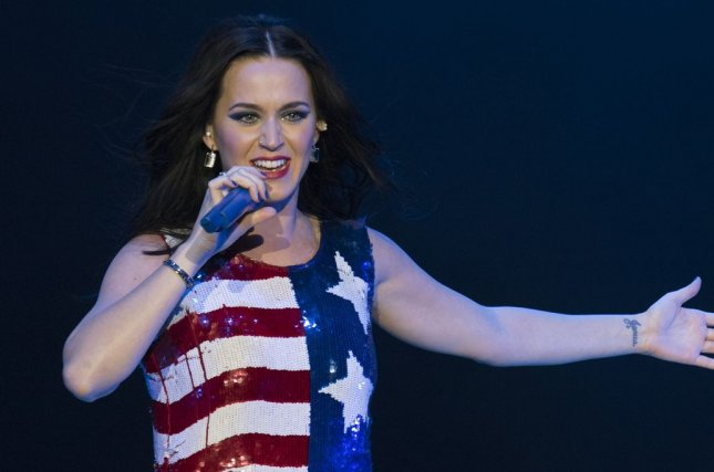 Katy Perry performs at a rally for Democratic presidential candidate Hillary Clinton, in Philadelphia on November 5, 2016. File Photo by Kevin Dietsch/UPI